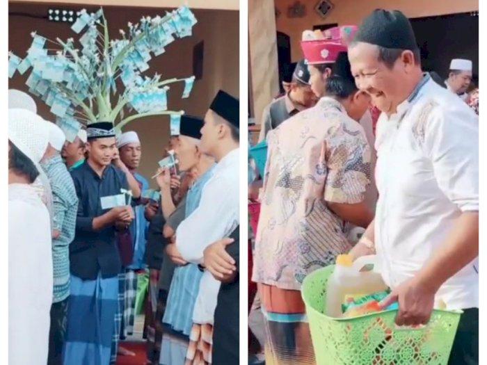 Maulid Nabi di Rumah 'Sultan', Ada Pohon Duit Rp50 Ribuan hingga Sekeranjang Penuh Sembako