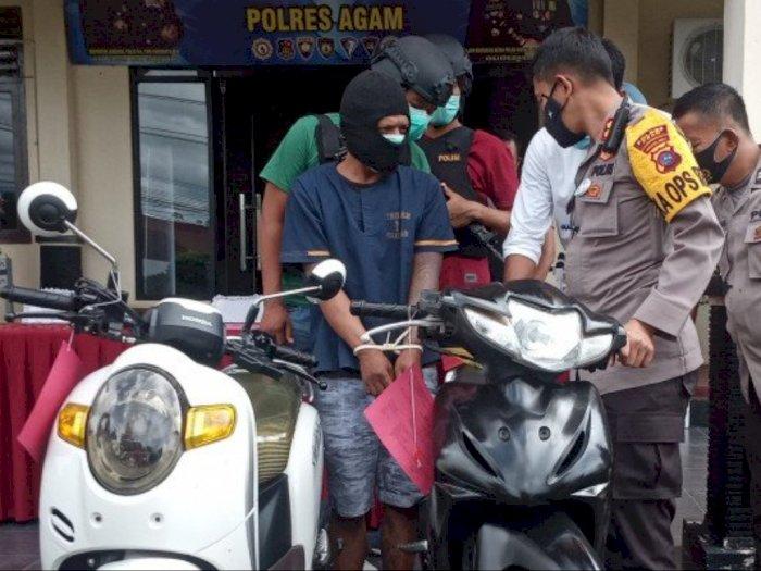 Jual Motor Hasil Curian di Pasar, Seorang Ayah Enam Anak Ini Diciduk Polisi
