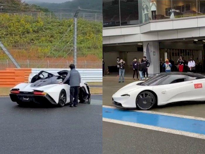 Mobil McLaren Speedtail Langka Ini Alami Tabrakan di Fuji Speedway, Jepang!