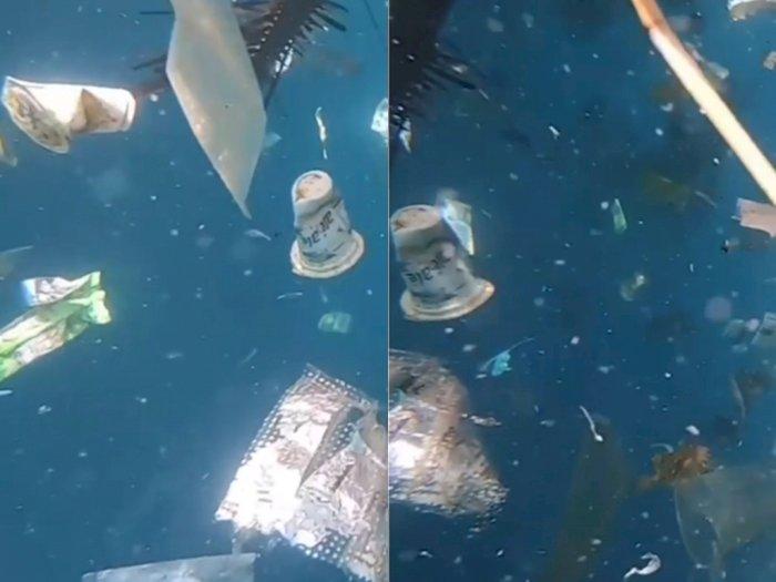 Video Penampakan Sampah Plastik yang Penuhi Lautan, Netizen: Jujur Sedih