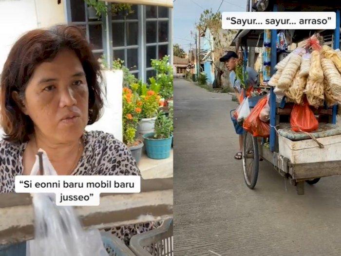Viral Emak-emak Belanja Sayur dan Gibah Pakai Bahasa Korea, Netizen Tercengang