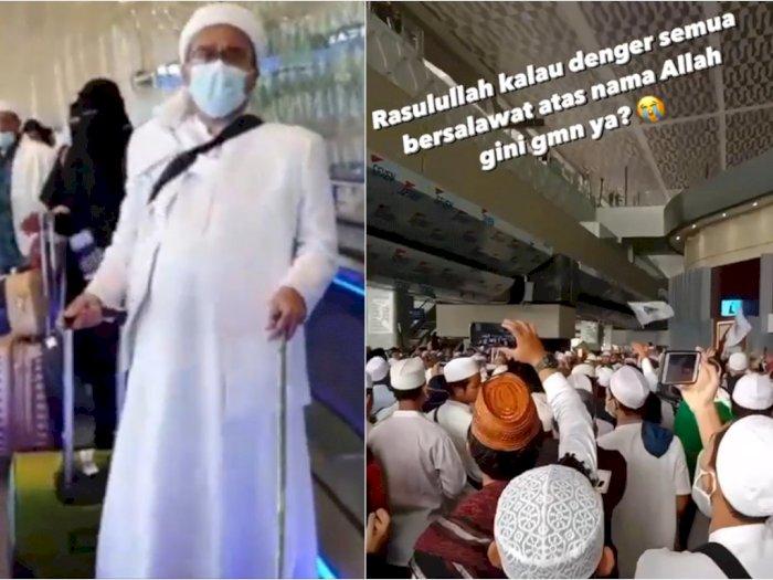 Ikut Sambut Kedatangan Habib Rizieq, Arie Untung Terharu Dengar Lantunan Shalawat Massa