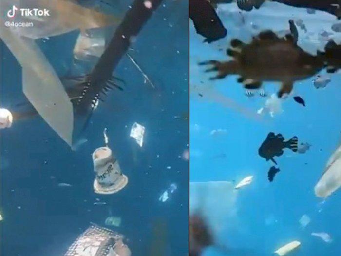 Viral Video Lautan Dipenuhi Sampah Plastik, Bu Susi Pudjiastuti Sampai Menangis Melihatnya