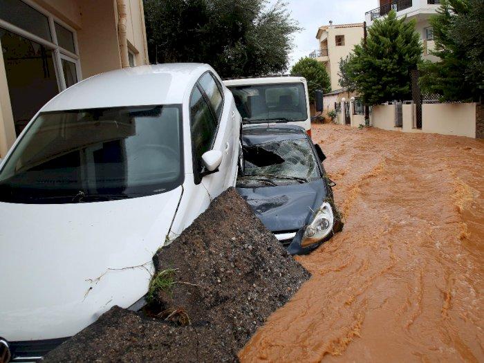 FOTO: Banjir Parah Melanda Pulau Kreta di Yunani