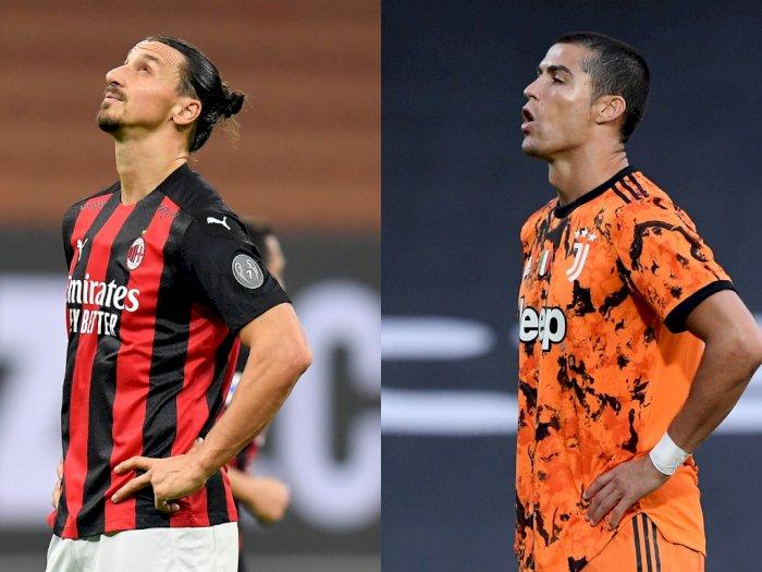Kagum, Ancelotti: Ibrahimovic Abadi Seperti Ronaldo, Mereka Selalu Cetak Gol
