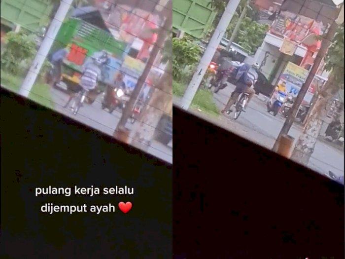 Video Wanita Dijemput Pulang Kerja Oleh Ayah Pakai Sepeda, Bikin Netizen Kangen Orang Tua