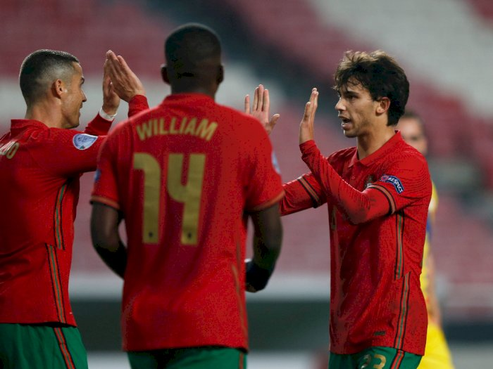 Portugal Vs Andorra 7-0, Ronaldo Cetak Satu Gol