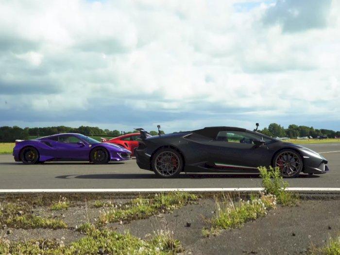 Melihat Pertandingan Antara Mobil Porsche, Lamborghini, dan Ferrari!
