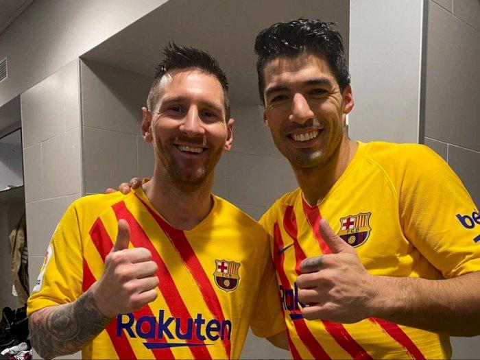 Jaga Silaturahmi, Suarez: Saya dan Messi Masih Sering Bicara Tapi Bukan Soal Sepak Bola