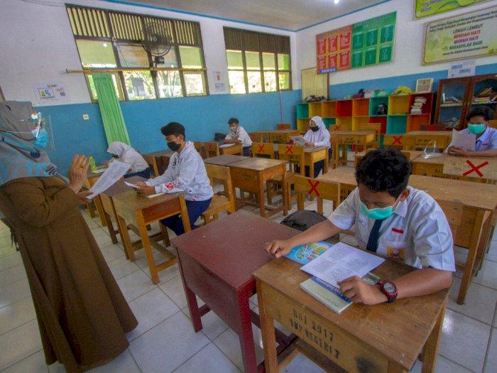 FOTO: Simulasi Belajar Tatap Muka di Kota Banjarmasin