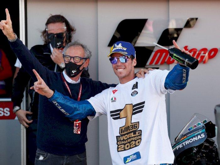 FOTO: MotoGP Valencia 2020, Morbidelli Menang, Joan Mir Juara Dunia
