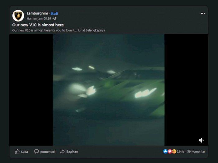 Lamborghini Unggah Teaser dari Mobil Huracan STO Sebelum Diumumkan!