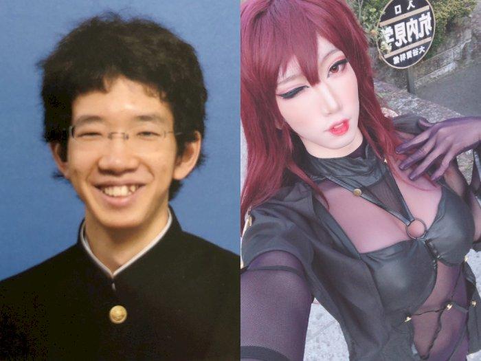 Bikin Pangling! Dulunya Culun, Pria Ini Malah Berubah Jadi Wanita Seksi dengan Makeup