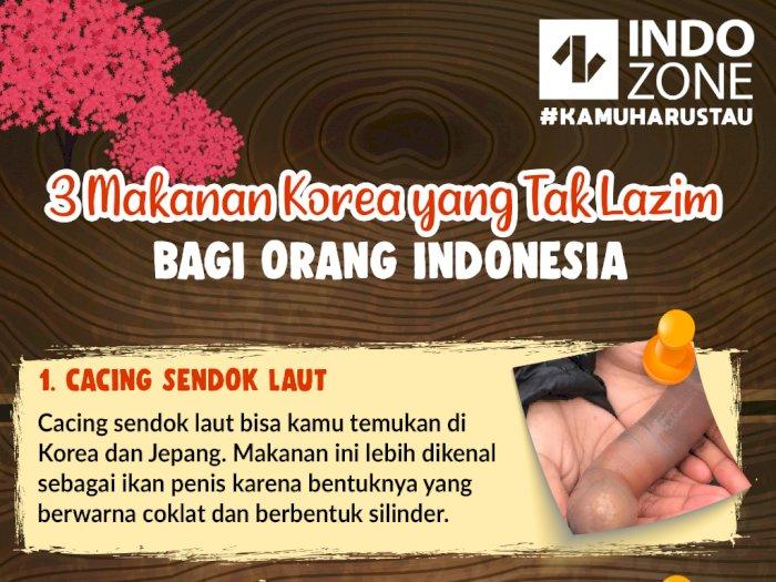 3 Makanan Korea yang Tak Lazim bagi Orang Indonesia