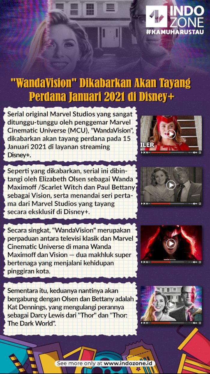 """""""WandaVision"""" Dikabarkan Akan Tayang Perdana Januari 2021 di Disney+"""