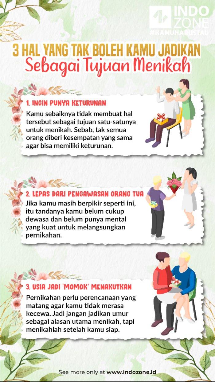 3 Hal yang Tak Boleh Kamu Jadikan Sebagai Tujuan Menikah