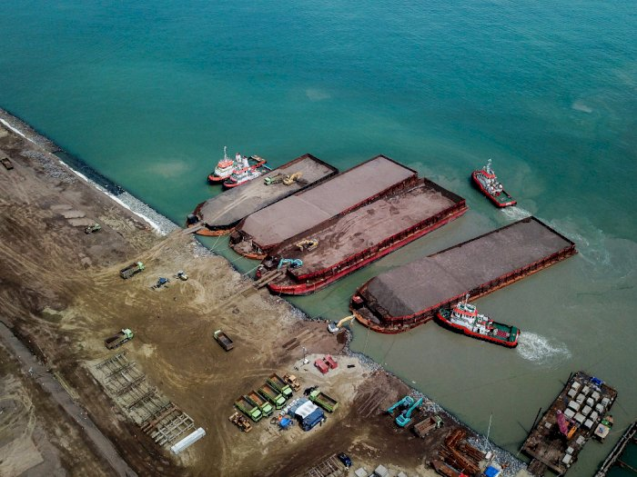 FOTO: Proyek Pembangunan Pelabuhan Patimban