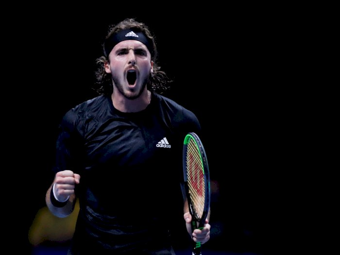 FOTO: ATP Finals, Stefanos Tsitsipas Melaju ke Semi Final