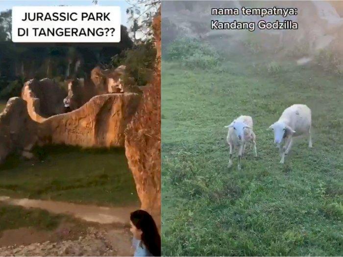 Viral Wisata ala 'Jurassic Park' di Tangerang, Netizen Ngakak Domba Disebut Hewan Liar