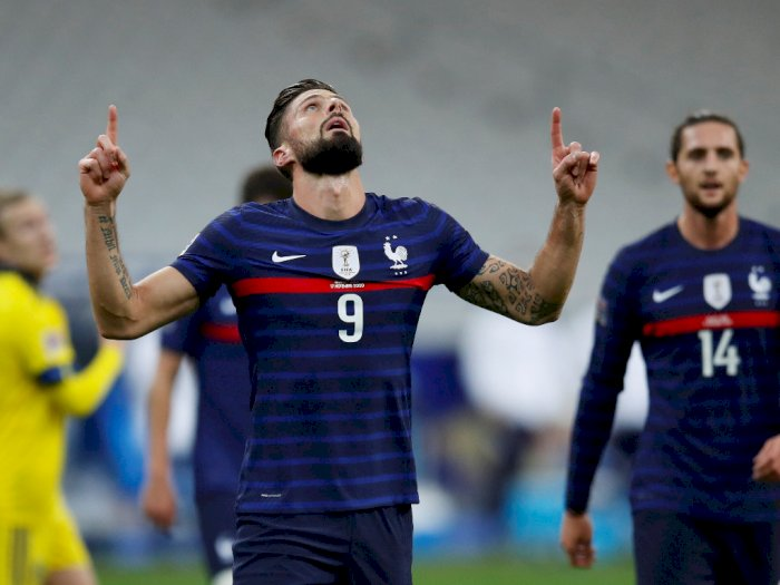 FOTO: UEFA Nations League, Prancis Menang 4-2 Atas Swedia