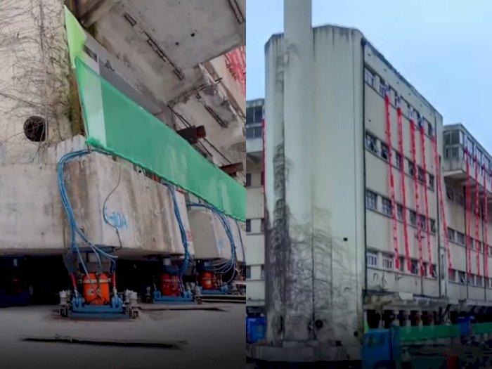 Bangunan 5 Lantai di Tiongkok Ini Dipindahkan Menggunakan Mesin!