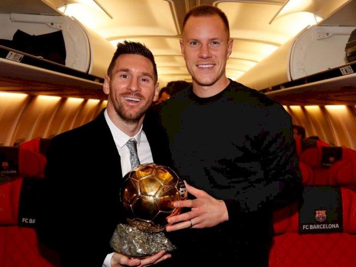 Ter Stegen: Saya Harap Messi Terus di Barcelona dan Bahagia!