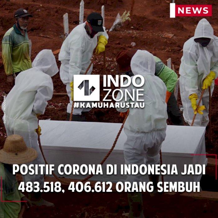 Positif Corona di Indonesia Jadi 483.518, 406.612 Orang Sembuh