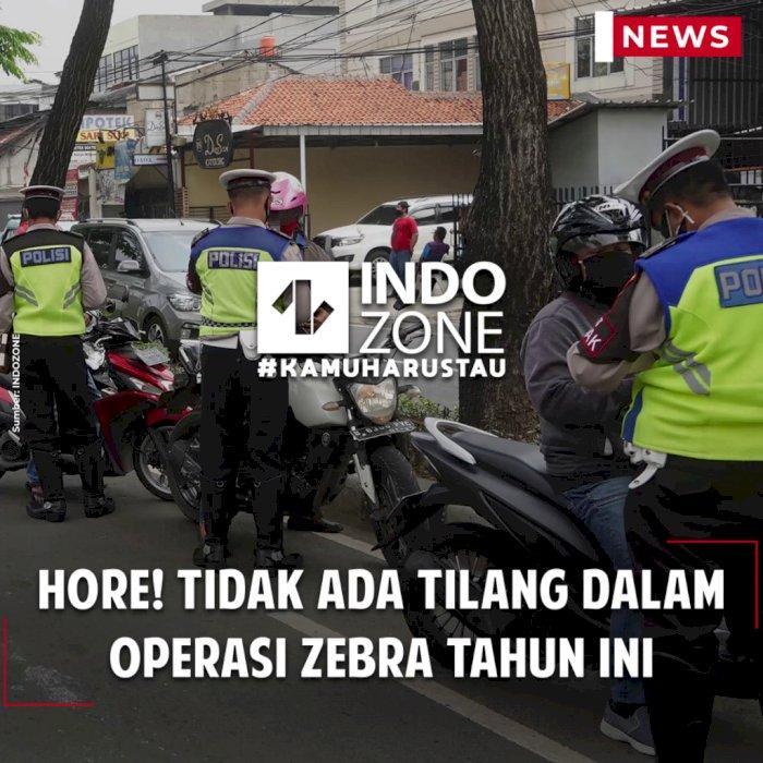 Hore! Tidak Ada Tilang dalam Operasi Zebra Tahun Ini