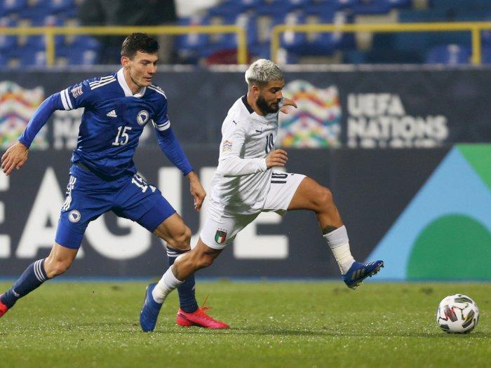 Bosnia dan Herzegovina Vs Italia 0-2, Italia Melaju Ke Semifinal UEFA Nations League