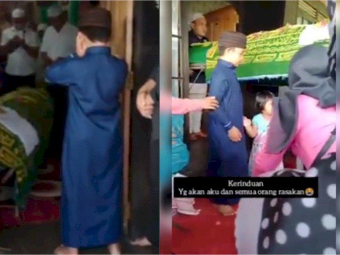Video Haru Bocah Lantunkan Adzan di Hadapan Jenazah Ibu, Berusaha Tahan Tangis