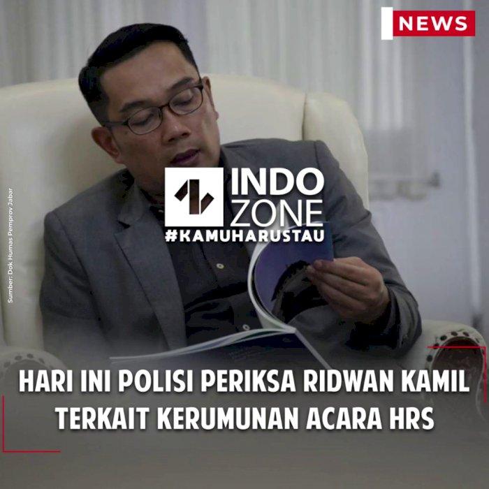 Hari Ini Polisi Periksa Ridwan Kamil Terkait Kerumunan Acara HRS