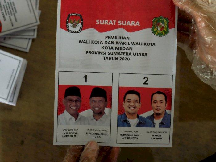 Foto Akhyar-Salman Tampak Gelap di Surat Suara, KPU Medan Salahkan Kubu AMAN