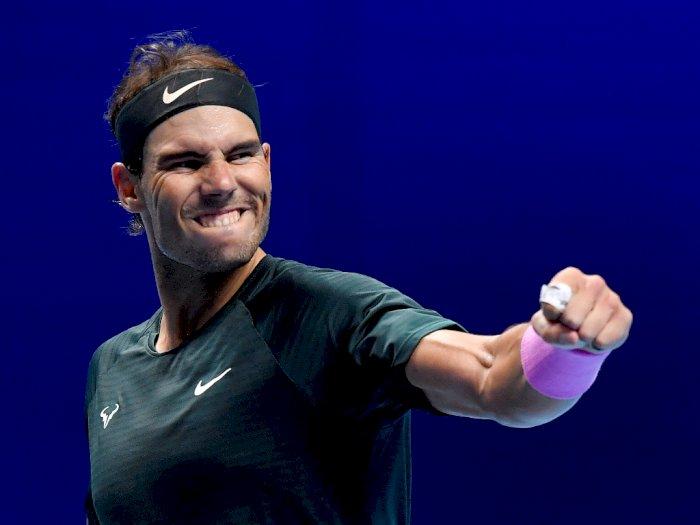 FOTO: ATP Finals, Rafael Nadal Lolos ke Semifinal