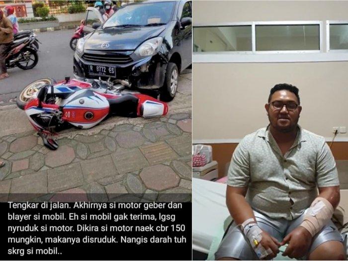Kronologi Mobil Ayla Tabrak CBR1000RR SP Rp700 Juta, Dianggap Percobaan Pembunuhan