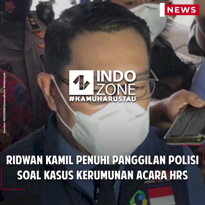 Ridwan Kamil Penuhi Panggilan Polisi Soal Kasus Kerumunan Acara HRS