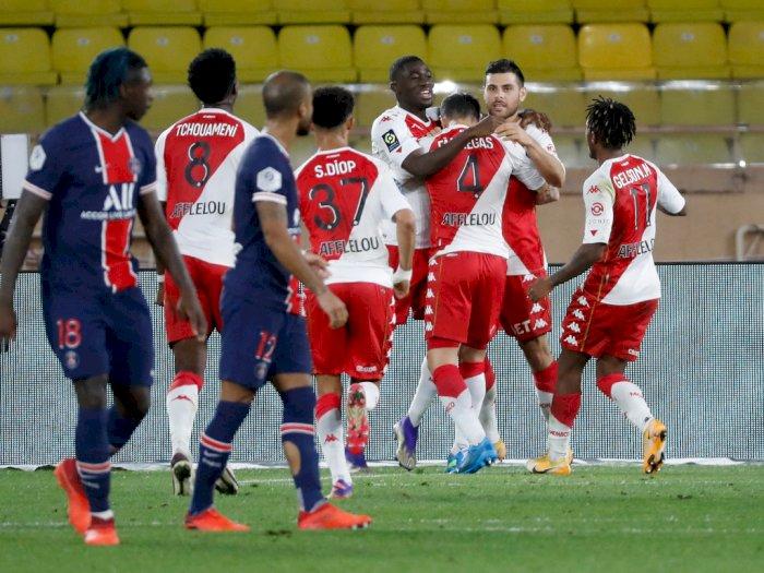 Sempat Unggul 2 Gol, PSG Dibekuk Monaco 3-2
