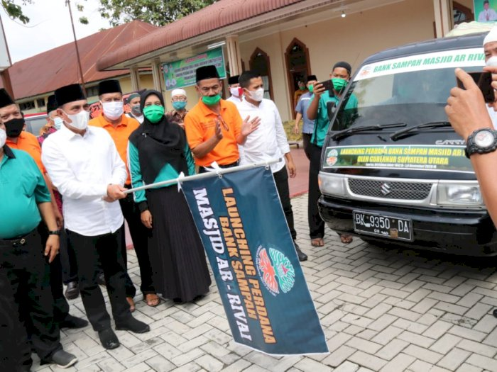 Ini Dia Bank Sampah Masjid Pertama di Medan, Gubernur Sumut: Semoga Memberi Manfaat