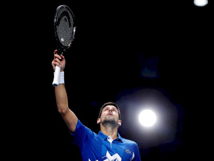 FOTO: ATP Finals, Novak Djokovic Kalahkan Alexander Zverev