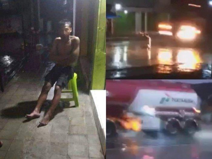 Sakti! Pria Ini Masih Hidup usai Dilindas Truk Tangki Pertamina saat Duduk di Tengah Jalan