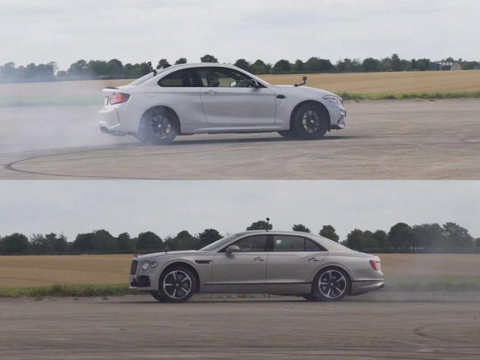 Melihat Drag Race Antara Mobil BMW M2 CS dengan Bentley Flying Spur!