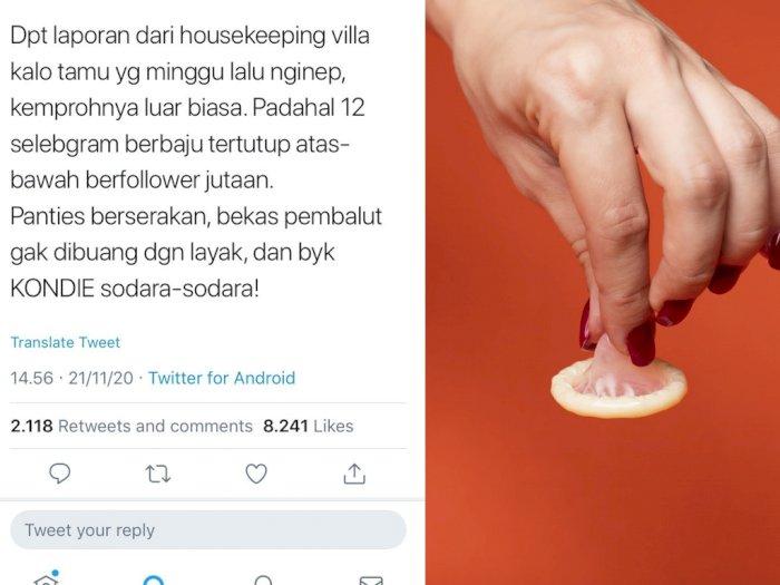 Fotografer Ini Bongkar Kelakuan Selebgram Menginap di Villa, Banyak Kondom Berserakan