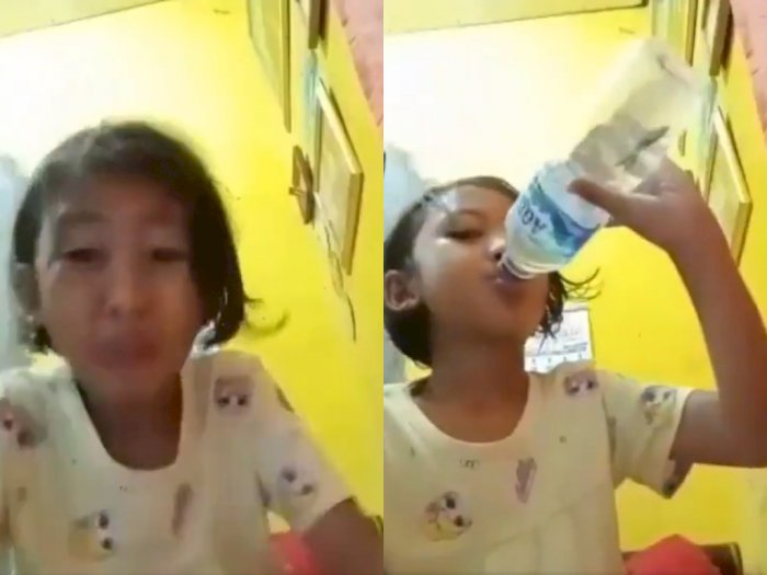 Duh! Bocah ini Minum Air Isi Cupang Gegara Kepedasan Saat Bikin Video Mukbang