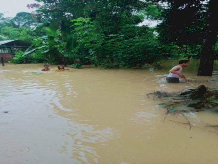 Banjir Langkat: 2 Kecamatan Terendam, Ketinggian Air Capai 50 Hingga 100 Centimeter