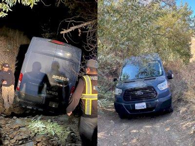 Salah Ikuti GPS, Mobil Pengantar Amazon Ini Terjebak di Trek Off-Road!