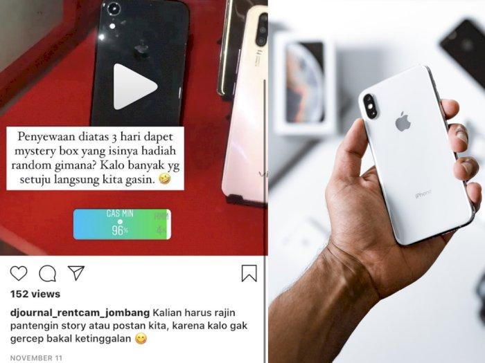 Online Shop Ini Tawarkan Jasa Sewa iPhone, Bayarannya Mulai Rp16 Ribuan