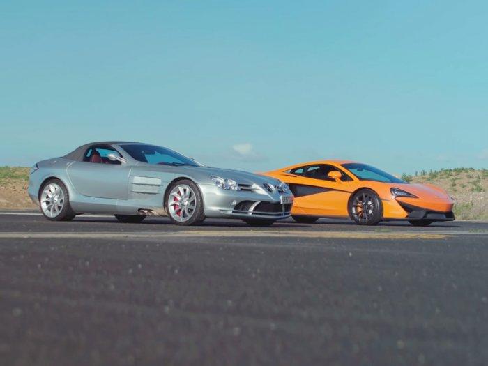 Seperti Ini Pertandingan Antara Mobil Mercedes SLR McLaren dan McLaren 540C