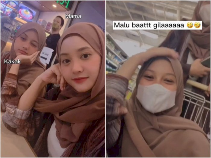 Kelakuan Mama dan Anak Nekat Foto Naik Troli, Hasilnya Bikin Netizen Insecure ke Emaknya