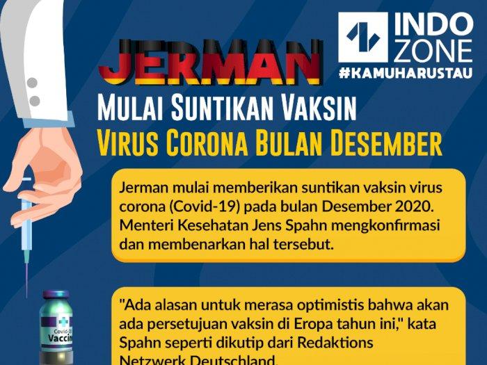 Jerman Mulai Suntikan Vaksin Virus Corona Bulan Desember