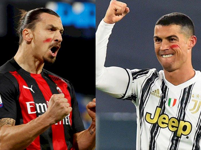 "Sama-sama Cetak 2 Gol, Ronaldo dan Ibrahimovic Buktikan Mereka ""Abadi"""