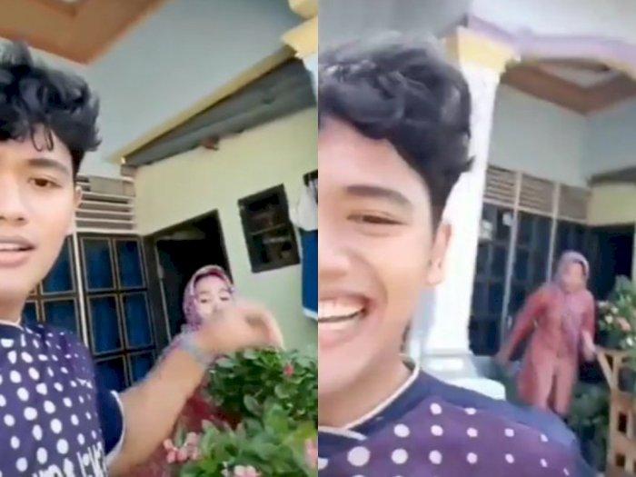 Iseng Petik Bunga di Pot Depan Rumah, Pria Ini Berujung Kejar-kejaran dengan Ibunya